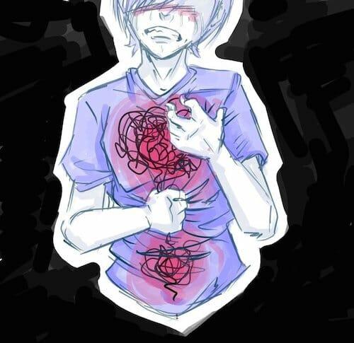 Ilustração representando uma pessoa com sentimento de ansiedade