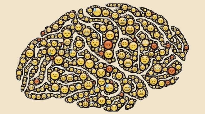 Cérebro representando pensamentos obsessivos