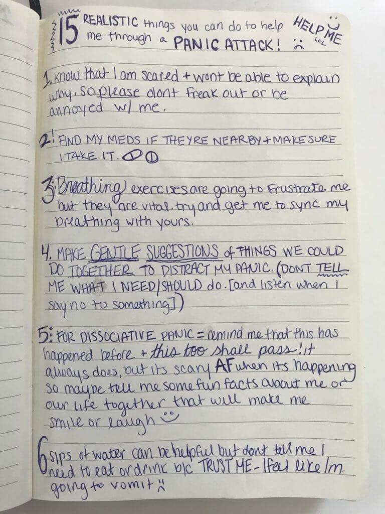Dicas de como ajudar alguém com crise de pânico - Kelsey Darragh